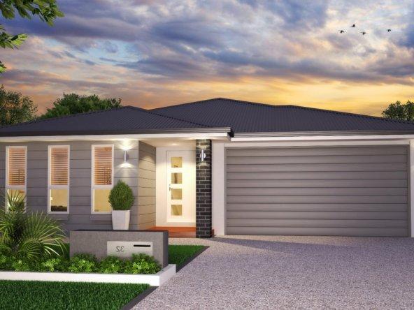 modern home facade white and gray