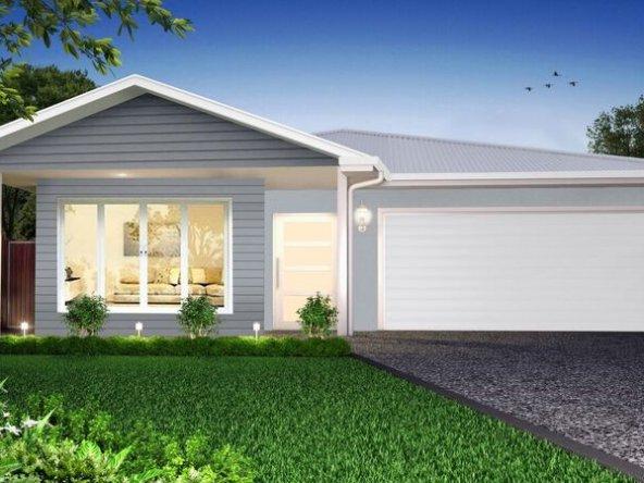 Hamptons style house facade